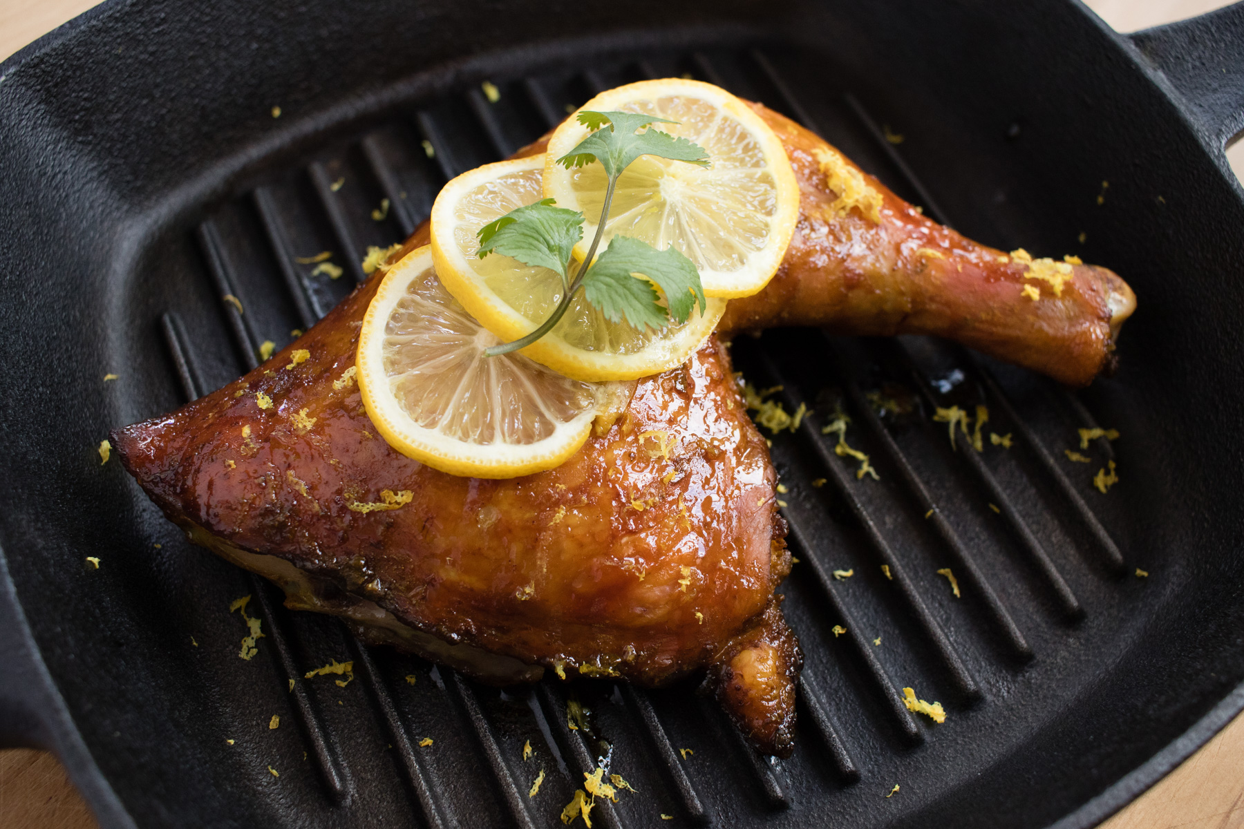 Roasted Chicken with Honey Lemon Glaze | KinderNutrition